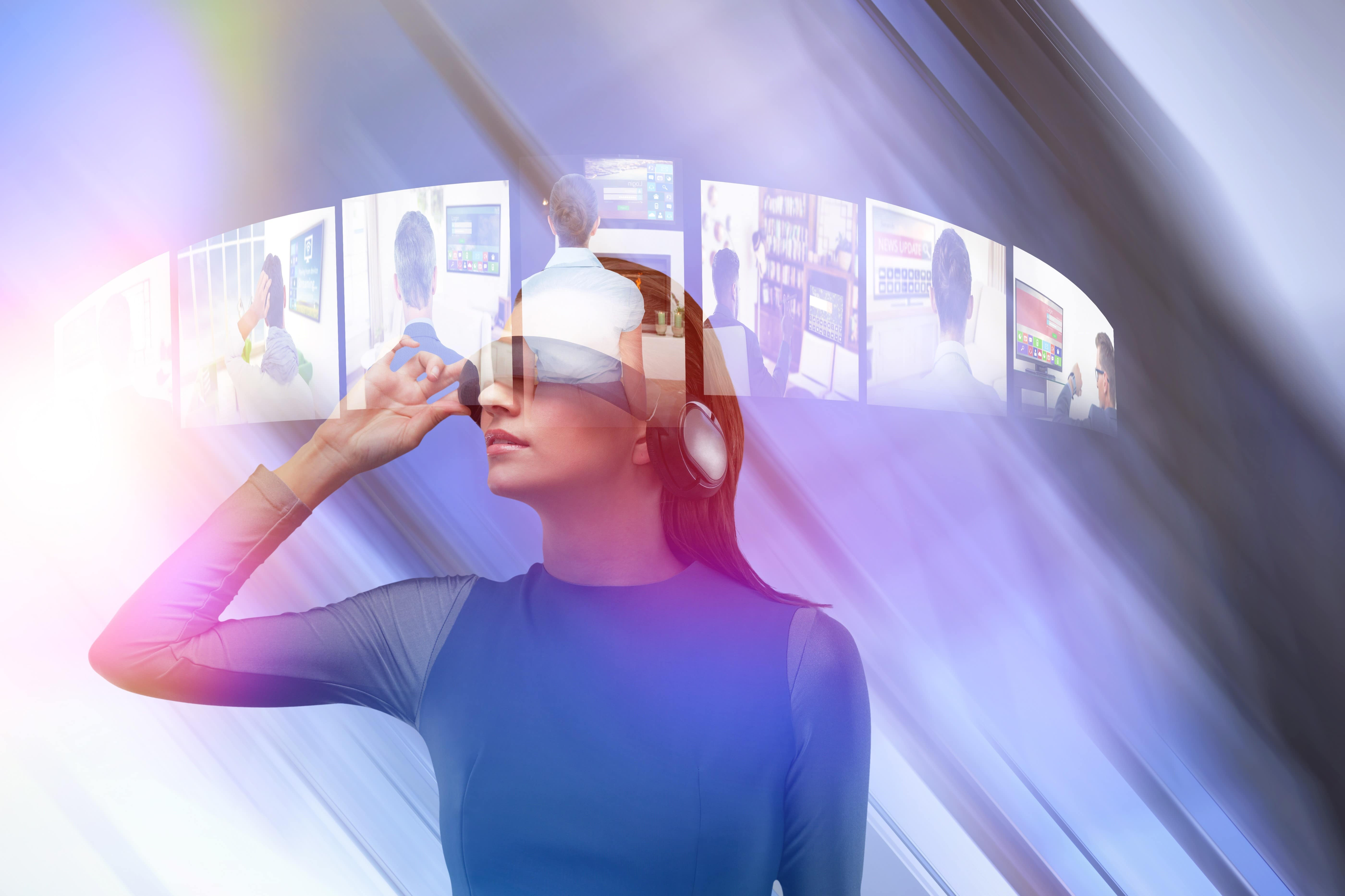 Virtual Reality Woman with headset
