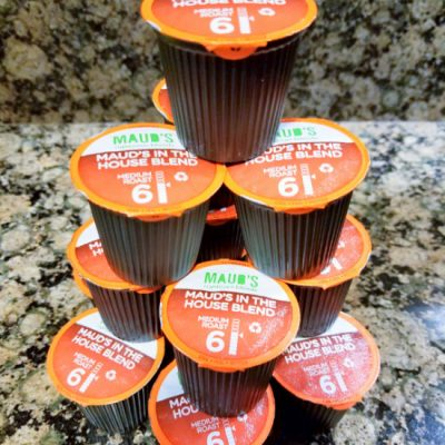 Recyclable K Cups Stacked