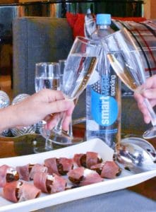 Christmas Appetizer smartwater Sparkling vertical cheers