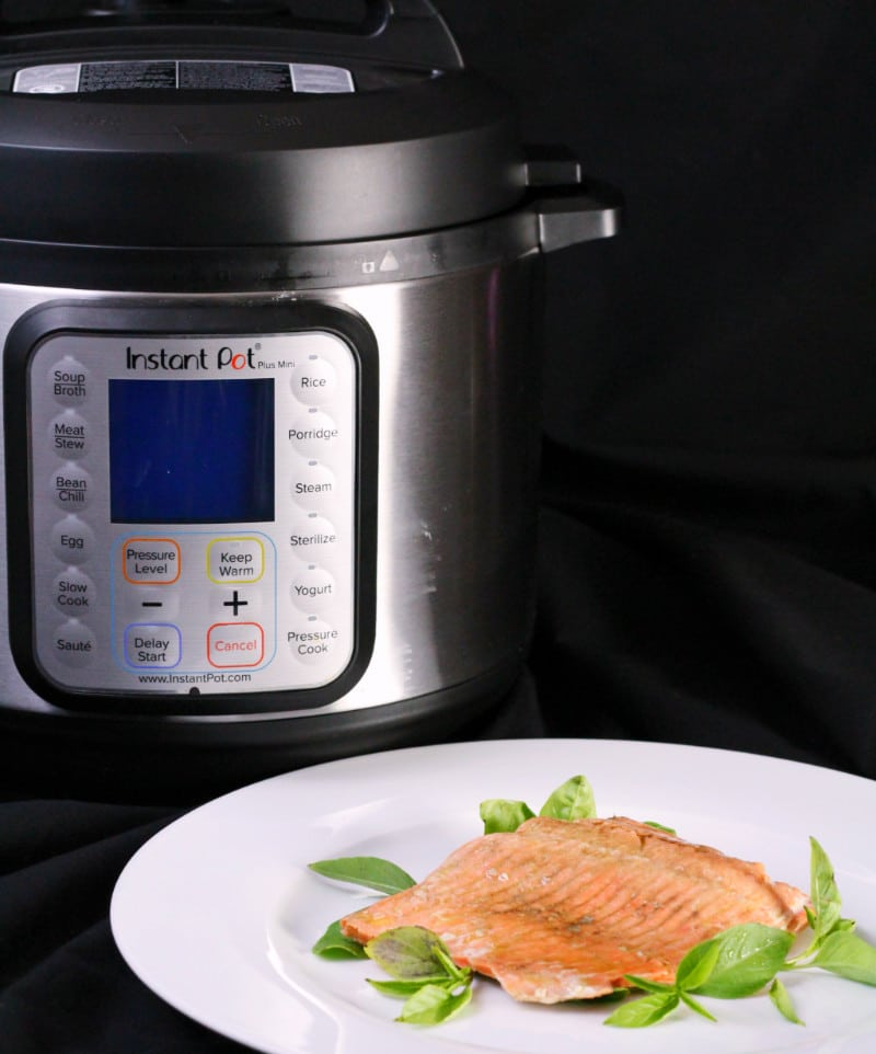 Instant Pot Salmon Vertical with Pot
