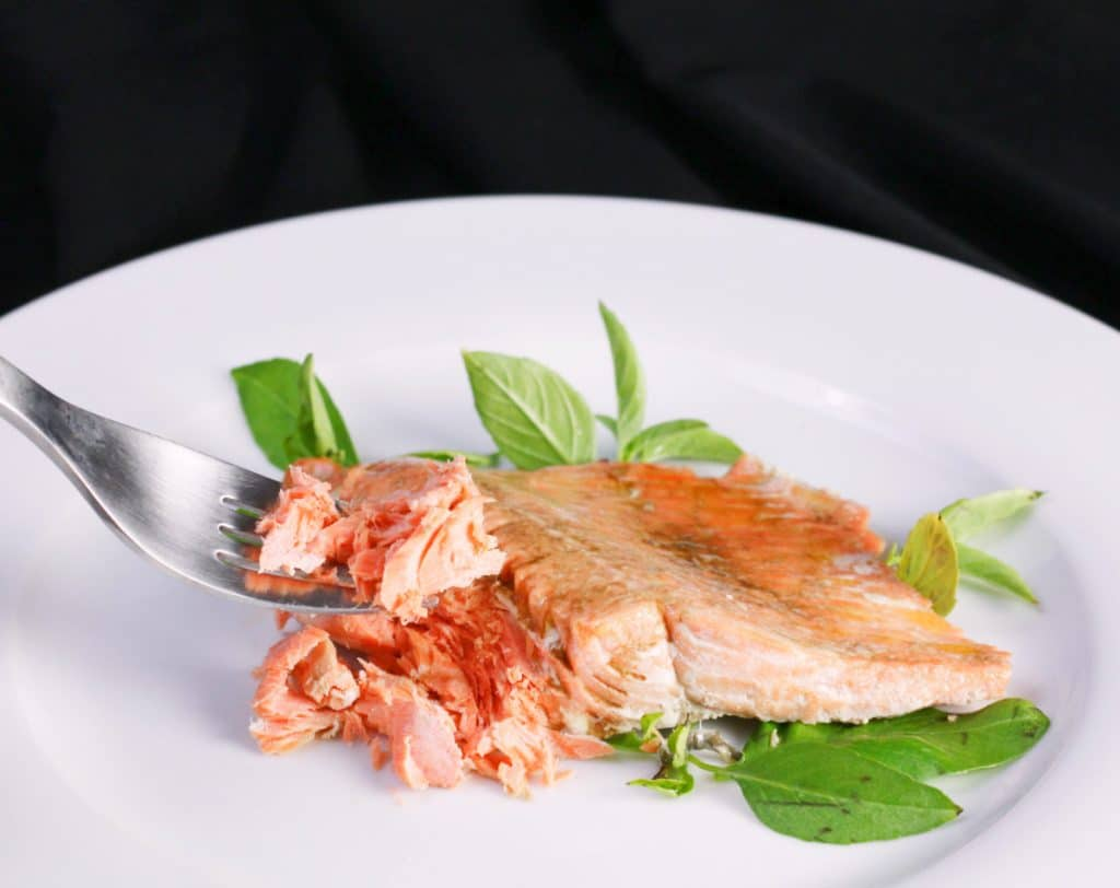 instant pot salmon with fork horiz small