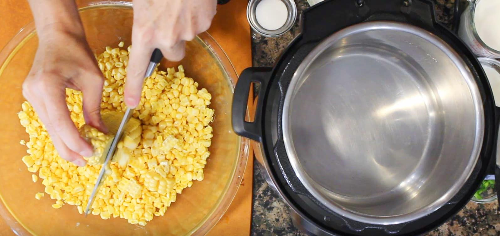 Instant Pot Creamed Corn Cutting Corn