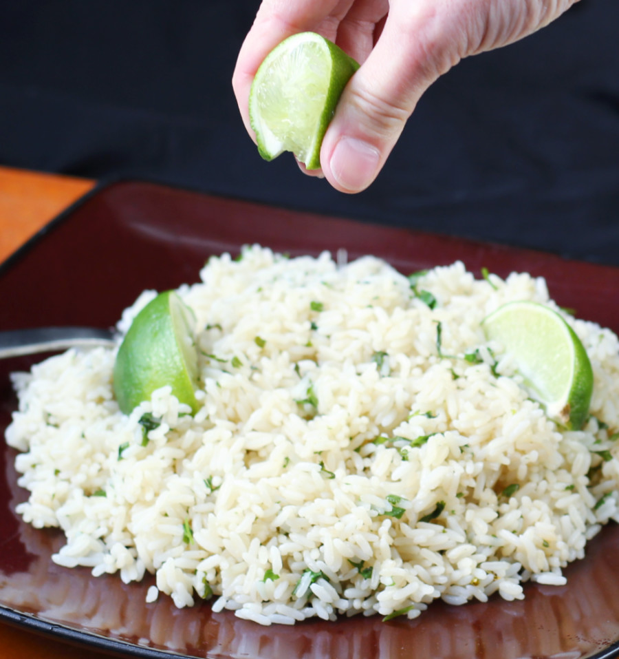 Pressure Cooker Rice Vertical squeezing lime