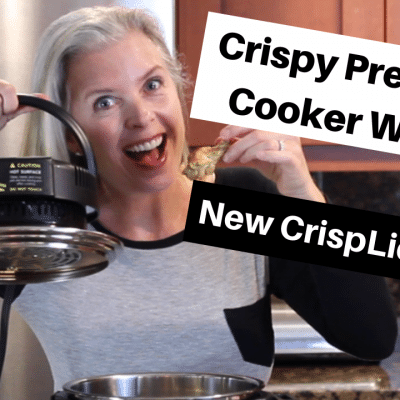 Pressure Cooker Chicken Wings | CRISPY with new air fryer CRISPLID