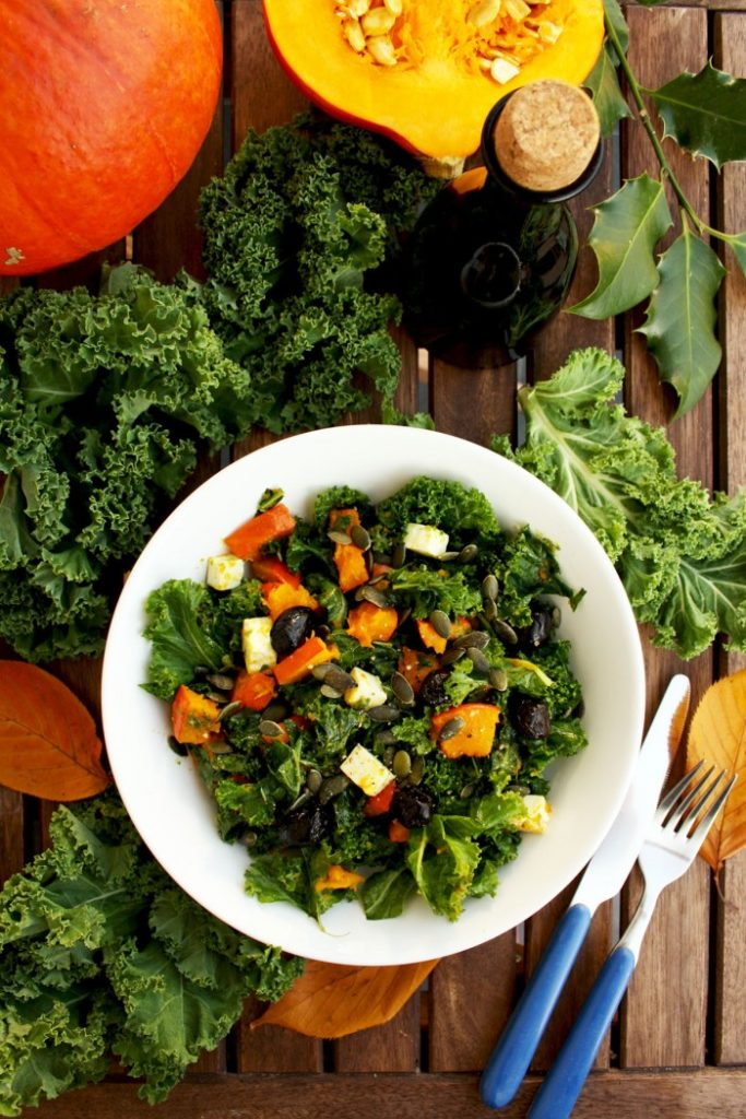 Best Green Salad Recipes Kale Pumpkin Salad