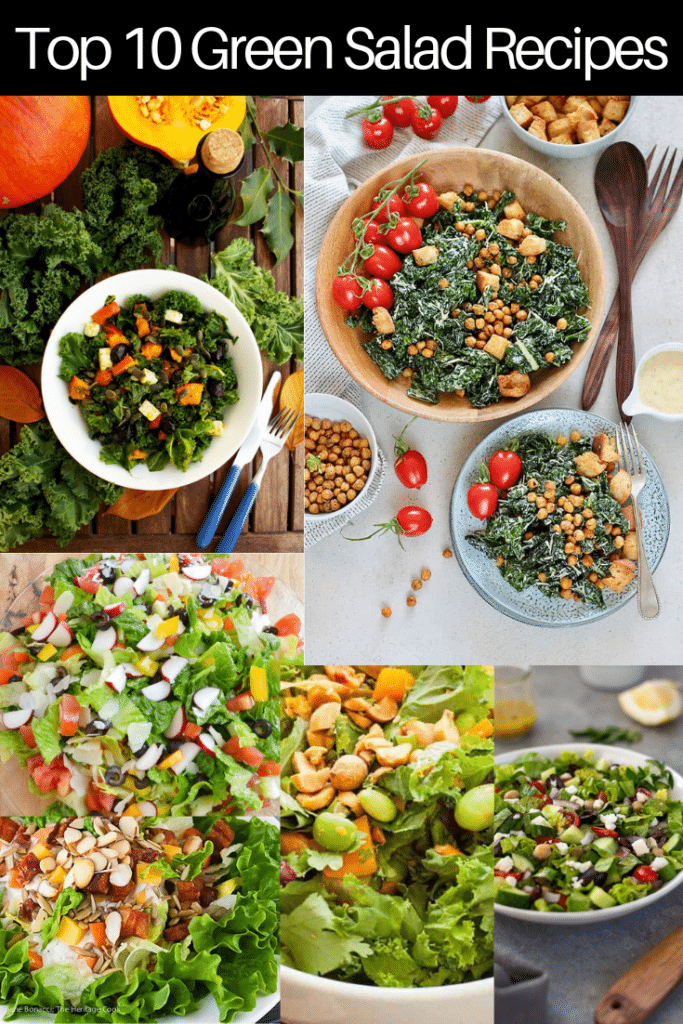 Top 10 Green Salad Recipes Pin