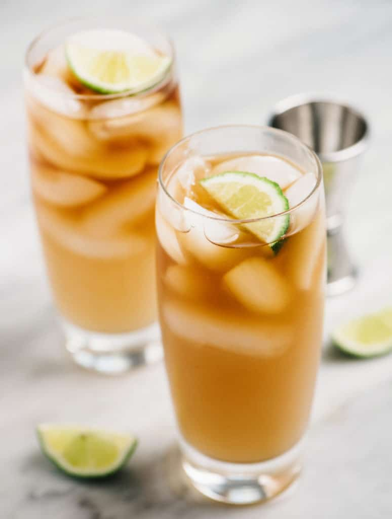 dark and stormy drink vertical two glasses small