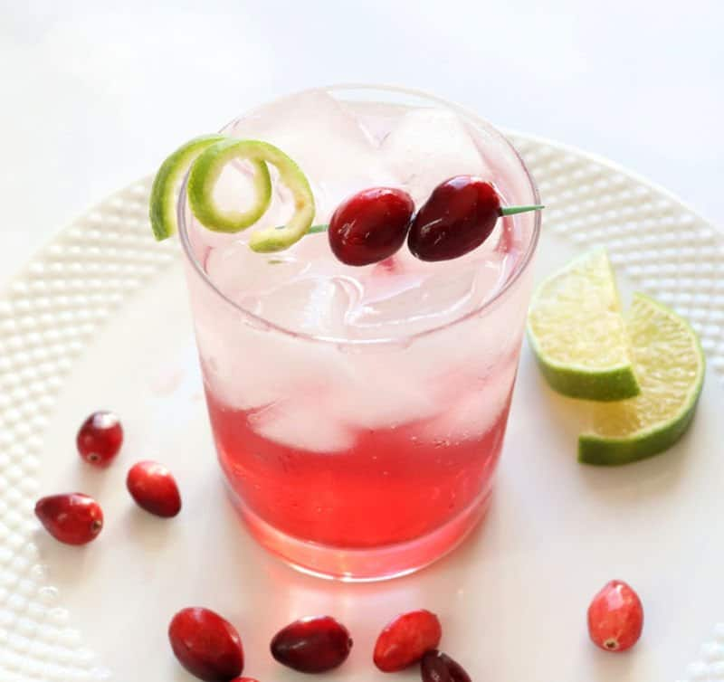 Sparkling Vodka Cranberry Cocktail