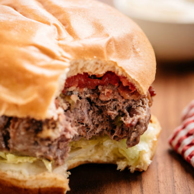 Sous Vide Burger – Bacon Blue Cheese Perfection!