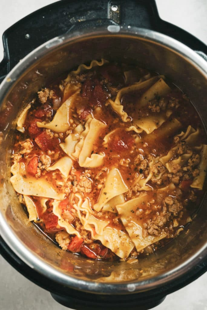 Instant-Pot-Lasagna-Soup-in-Pot-overhead-vertical-2