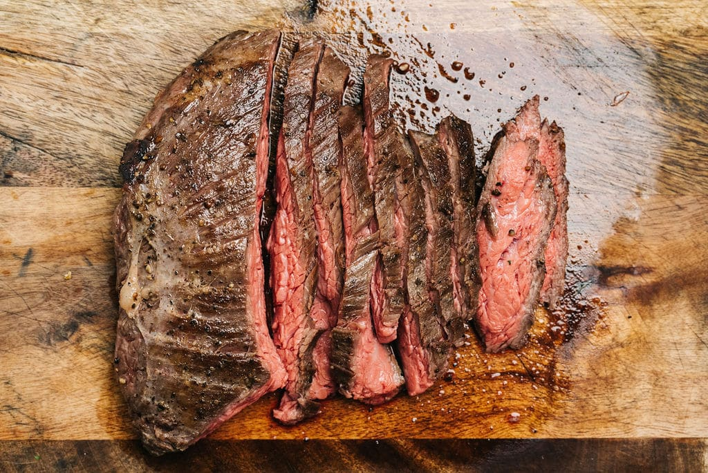Flank steak overhead
