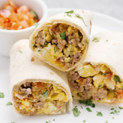 Camping Breakfast Ideas – Easy Make Ahead Burritos!