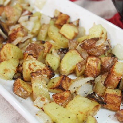 Air Fryer Roasted Potatoes | Easy AND Healthy