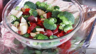 foil packet recipes ingredients in bowl