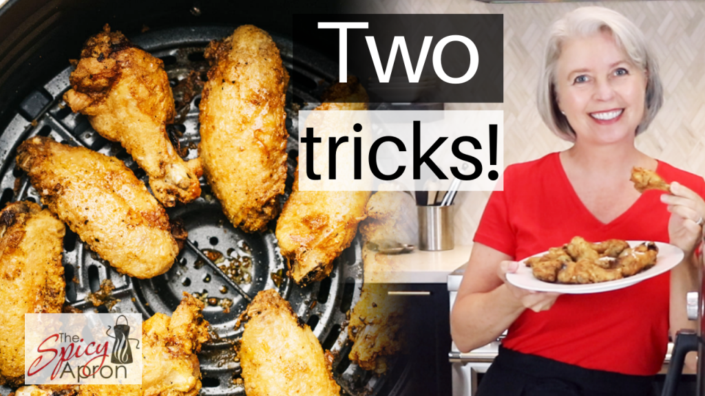 air fryer cripsy chicken wings youtube video thumbnail